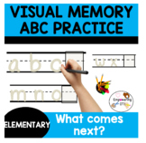 VISUAL MEMORY Differentiated Handwriting Practice!  k12345 SPED