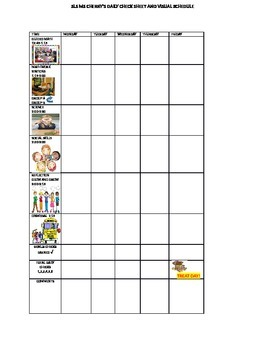 VISUAL SCHEDULE AND BEHAVIOR POINT SHEET