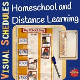 Homeschooling Day VISUAL SCHEDULE and Distance Learning at