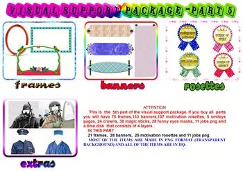 VISUAL SUPPORT PACKAGE part 5 (FRAMES, MASKS, BANNERS, MOTIVATION ROSETTES)
