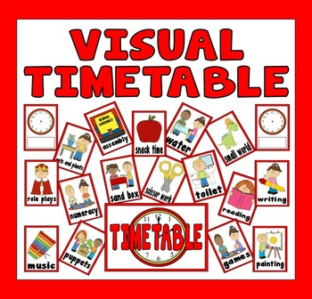 VISUAL TIMETABLE CLASSROOM DISPLAY TEACHING RESOURCES SEN EARLY YEARS PRIMARY