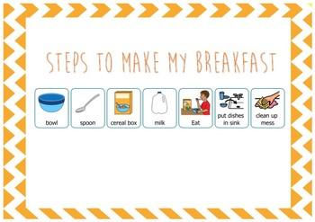 VISUAL - making breakfast