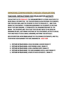 VISUALIZATION ACTIVITY: BALANCED LITERACY GRADES 2-4