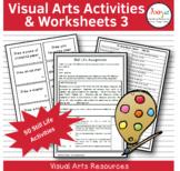 Visual Arts Activities & Worksheets - Still Life