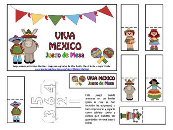 VIVA MEXICO. Juego de Mesa.