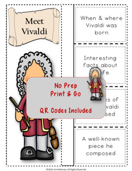 Music Composers: VIVALDI Foldables: Music Listening Activities