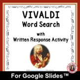 VIVALDI Word Search and Research Activity