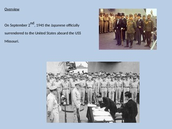 VJ Day - Victory over Japan WWII - Powerpoint facts history pictures