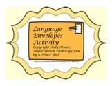 Language Envelopes- Comprehensive Language Activity