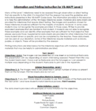VMAPP Level 1-3 Materials and Data Sheets