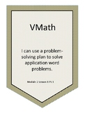 VMath Level G Module 2  I Can's