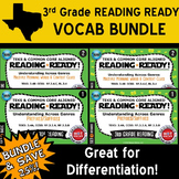 VOCAB BUNDLE ~ READING READY 3rd Grade Task Cards – 4 Basic & Advanced Sets