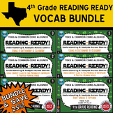 VOCAB BUNDLE ~ READING READY 4th Grade Task Cards – 6 Basic & Advanced Sets