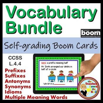 VOCAB Bundle BOOM Cards - 5 sets of 24 Self-checking Boom cards!