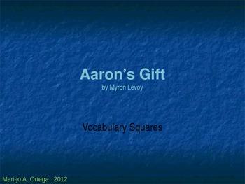 "VOCAB SQUARES: ""Aaron's Gift"""