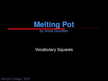 """VOCAB SQUARES: """"Melting Pot"""""""