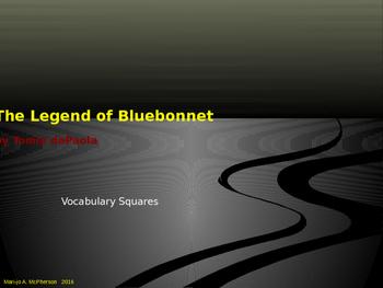 """VOCAB SQUARES: """"The Legend of the Bluebonnet"""""""