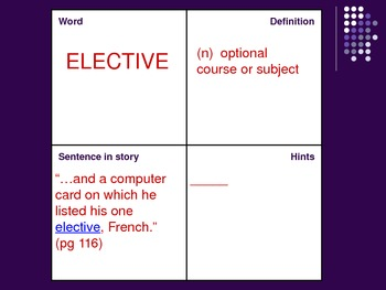 "VOCAB SQUARES: ""Seventh Grade"""