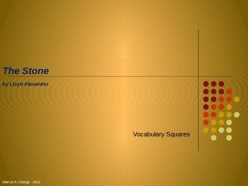 """VOCAB SQUARES: """"The Stone"""""""