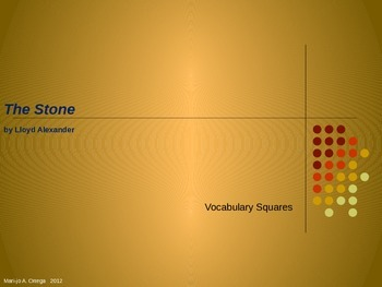 "VOCAB SQUARES: ""The Stone"""