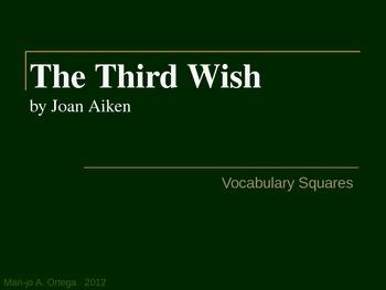 """VOCAB SQUARES: """"The Third Wish"""""""