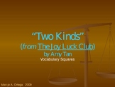 """VOCAB SQUARES: """"Two Kinds (from """"The Joy Luck Club"""")"""""""