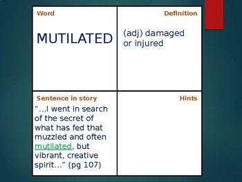 """VOCAB SQUARES: from """"In Search of Our Mothers' Gardens"""""""