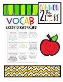 VOCAB Words Choice Board