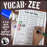 VOCAB-ZEE A Vocabulary and Language Dice Game
