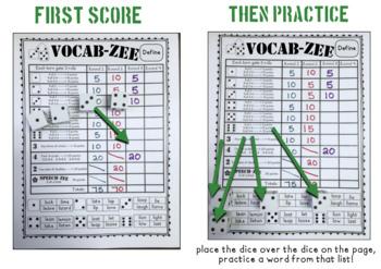 VOCAB-ZEE A Vocabulary and Language Dice Game (game companion)