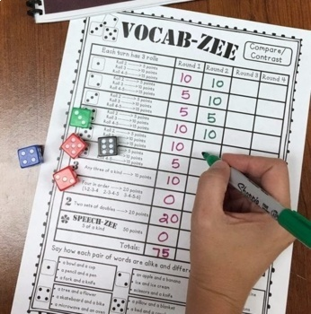 VOCAB-ZEE A Vocabulary and Language Dice Game (game companion)