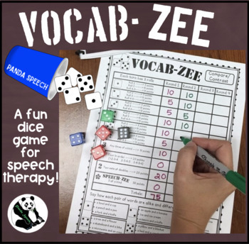 VOCAB-ZEE A Vocabulary and Language Dice Game