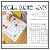 VOCABU-QUATRE d'hiver {FRENCH Vocabulary Game}