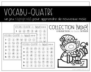 VOCABU-QUATRE de Noël {FRENCH Vocabulary Game}