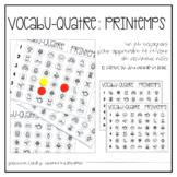 VOCABU-QUATRE de printemps {FRENCH Vocabulary Game}