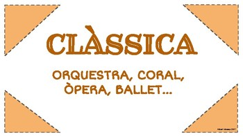 VOCABULARI PER AUDICIONS MUSICALS