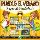VOCABULARIO DEL VERANO Bundle de Juegos | Summer Vocabulary Games in Spanish