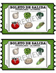 VOCABULARIO - LA COMIDA EXIT SLIPS
