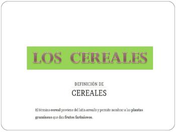VOCABULARIO LOS CEREALES