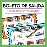 VOCABULARIO - Los modos de transportación Exit Slip