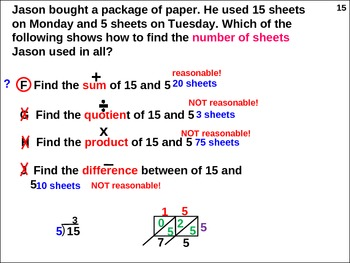 Vocabulary: Quotient-Product-Sum-Difference (animated)