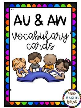 VOCABULARY CARDS-AU AND AW