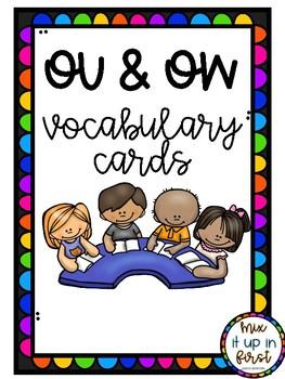 VOCABULARY CARDS-OU AND OW
