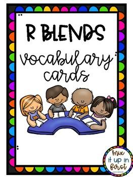 VOCABULARY CARDS-R BLENDS