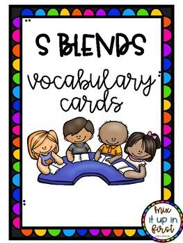 VOCABULARY CARDS-S BLENDS