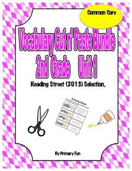 VOCABULARY CUT N' PASTE BUNDLE- Reading Street: UNIT 1-  2nd Grade