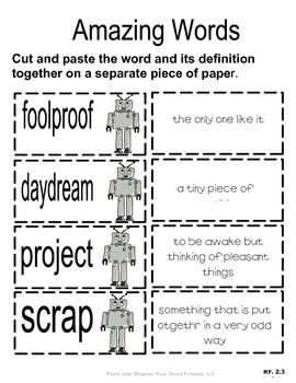 VOCABULARY CUT N' PASTE BUNDLE- Reading Street: UNIT 3-  2nd Grade