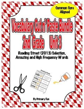 VOCABULARY CUT N' PASTE BUNDLE- Reading Street: UNIT 3-  2