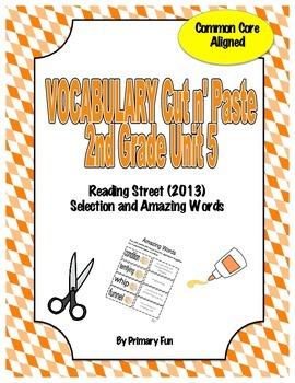 VOCABULARY CUT N' PASTE BUNDLE- Reading Street: UNIT 5-  2