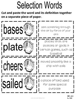 VOCABULARY CUT N' PASTE BUNDLE- Reading Street: UNIT 6-  2nd Grade